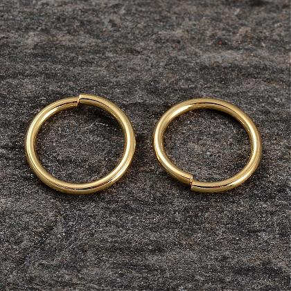 Real 18K Gold Plated Sterling Silver Jump RingsSTER-H135-0.8x8mm-G-1