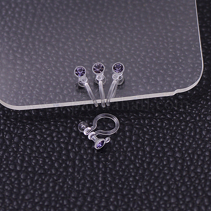 Plastic Clip-on Earring Findings X-KY-P007-M04-1