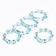 Anillos de dedo de acrílico transparenteRJEW-T010-04B-2