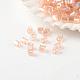 Fgb® deux perles de verre lustrées de couleurs transparentes coupéesSEED-A023-F-H309-1