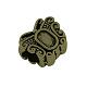 チベットスタイル合金ヨーロッパのビーズカボションのセッティングX-TIBEB-Q058-19AB-FF-2