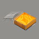 Boîtes à bijoux en plastiqueX-OBOX-G007-02-2