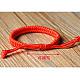 Pulseras trenzadas de cordón encerado ajustableBJEW-E304-15-4