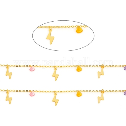 Cadenas de cable de latón hechas a manoCHC-F011-09-G-1