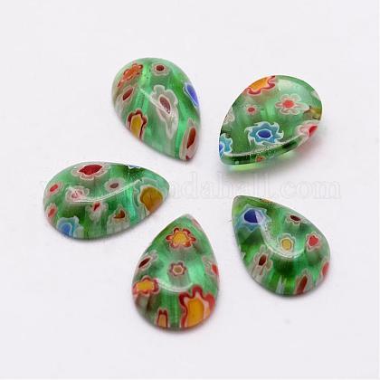 Handmade Millefiori Glass CabochonsLAMP-G124-01-1