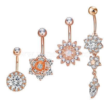 Brass Piercing JewelryAJEW-EE0006-77RG-1