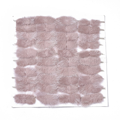 Faux Mink Fur Rectangle DecorationFIND-S320-01B-07-1