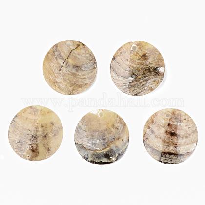 Natural Akoya Shell PendantsSHEL-R048-023-1