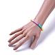 Handmade Polymer Clay Heishi Beads Stretch BraceletsBJEW-JB04487-M-4