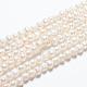 Hebras de perlas de agua dulce cultivadas naturalesA23TC011-4