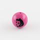 Opaque Chunky Gumball Bubblegum Marilyn Monroe Head Printed Acrylic Round BeadsSACR-Q097-M-2