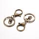 Iron Split Key Rings Keychain Clasp FindingsPALLOY-J682-02AB-NF-1