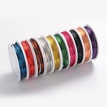 Copper Jewelry Wire, Lead Free & Cadmium Free & Nickel Free, Mixed Color, 18 Gauge, 1mm; 2.5m/roll