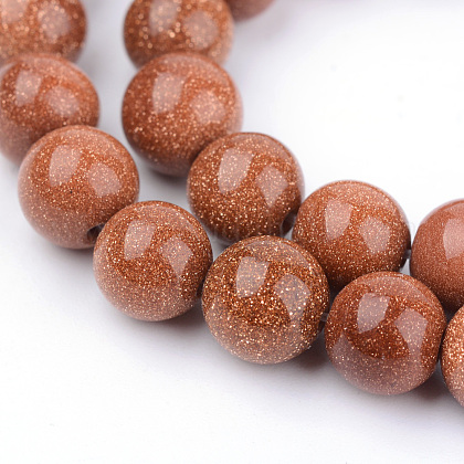 Granos de Goldstone sintético hebrasG-Q462-10mm-27-1
