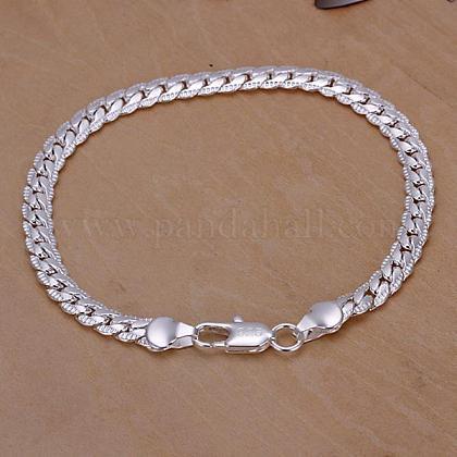 Unisex Brass Curb Chain BraceletsBJEW-BB12562-1