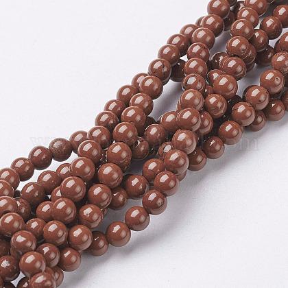 Natural Red Jasper Round Beads StrandsX-GSR4mmC011-1