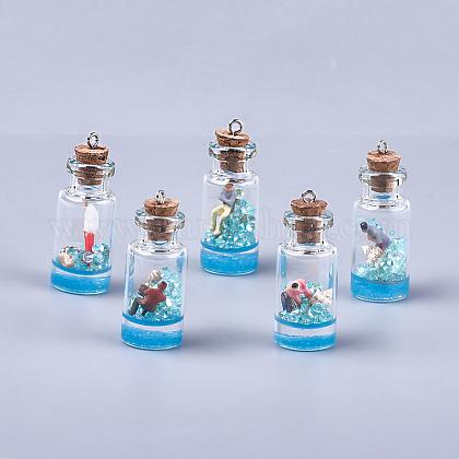 Decoraciones pendientes de cristal de la botella que deseaGLAA-S181-01B-1