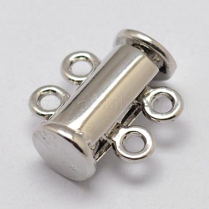 Alloy Magnetic Slide Lock ClaspsPALLOY-P103-01P-1