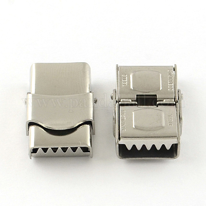 Smooth Surface 201 Stainless Steel Watch Band Clasps STAS-R063-79-1