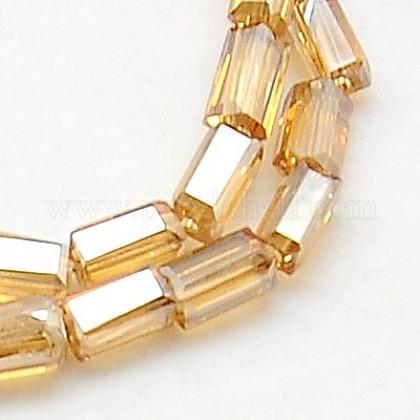 Electroplate Glass Beads StrandsEGLA-F006-B02-1