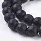 Synthetic Black Stone Beads StrandsG-C059-10mm-1-3