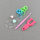 DIY Colorful Loom Bands Box with Rubber Bands and AccessoriesDIY-R009-05-2
