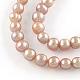 Hebras de perlas de agua dulce cultivadas naturalesPEAR-R013-05-1