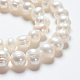 Grado de hebras de perlas de agua dulce cultivadas naturalesSPPA005Y-1-4