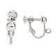 Brass Clip-on Earring Findingsfor non-pierced EarsX-EC143-NF-2