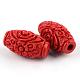 Perles de cinabre sculptéesCARL-Q004-76C-2