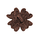 Tibetan Style Alloy Flower Buttons X-TIBE-2736-R-NR-2