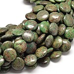 Natural Gemstone Flat Round Bead Strands, 18x7mm, Hole: 1mm; about 22pcs/strand, 16