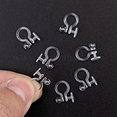 Plastic Clip-on Earring Findings, Clear, 9x11mm, Ball: 3mm, Tray: 5mm