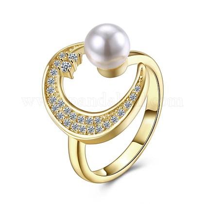 Mujeres de moda de latón anillos de dedoRJEW-BB27532-1