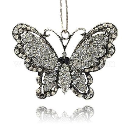 Colgante mariposa vintage para diseño de collarTIBE-M001-62-1