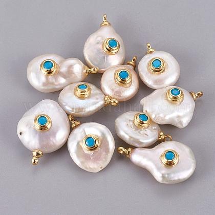 Colgantes naturales de perlas cultivadas de agua dulcePEAR-F008-31G-04-1