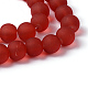 Chapelets de perles en verre mateGGB10MMY-DK35-3