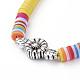Collares ajustables con cordón de nylon trenzadoNJEW-JN02727-4