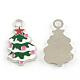 Navidad aleación árbol colgantes de esmalteENAM-R041-18-1