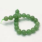 Cuentas de aventurina verde natural hebras, redondo, glauco, 8mm, agujero: 1 mm