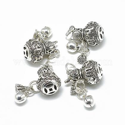 Thai 925 Sterling Silver Dangle PendantsSTER-T002-37AS-1