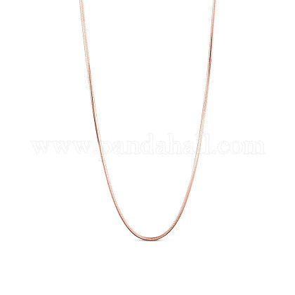 SHEGRACE® 925 Sterling Silver Snake Chain Necklaces JN734B-1