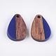 Colgantes de resina y madera de nogalRESI-S358-14-M-3