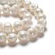 Grade a brins de perles de culture d'eau douce naturellesPEAR-L001-A-07-3