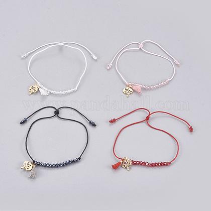 Nylon Cord BraceletsBJEW-JB04149-M-1