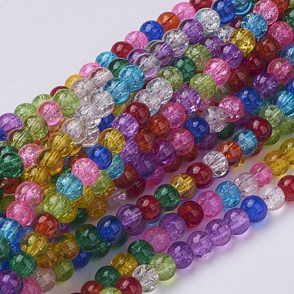Crackle Glass Beads StrandsGGM001-1