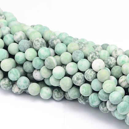 Круглые нити нефритовый шарик натуральный ЦинхайG-L448-17-10mm-1