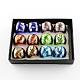 День Святого Валентина подарок ручной работы серебряная фольга лэмпворк широкополосные кольцаRJEW-Q150-M01-B-1