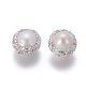 Perlas naturales abalorios de agua dulce cultivadasPEAR-F015-18B-2