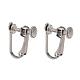 304 Stainless Steel Clip-on Earring SettingsSTAS-Q227-01-1
